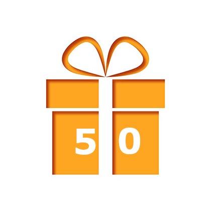 Secretaressedagbon 50 euro