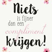 Kaartje Secretaressedag Niets is fijner dan een compliment krijgen!
