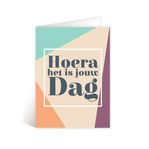 Kaartje 'Hoera het is jouw dag'