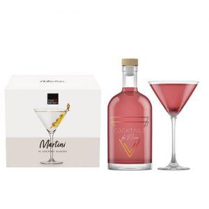 Cosmopolitan (750ml) + 4 Martini glazen